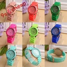Unisex Silicone Rubber Jelly Gel Quartz Analog Sports Women Wrist Watch Luxury High Quality Silicone Watch #150717