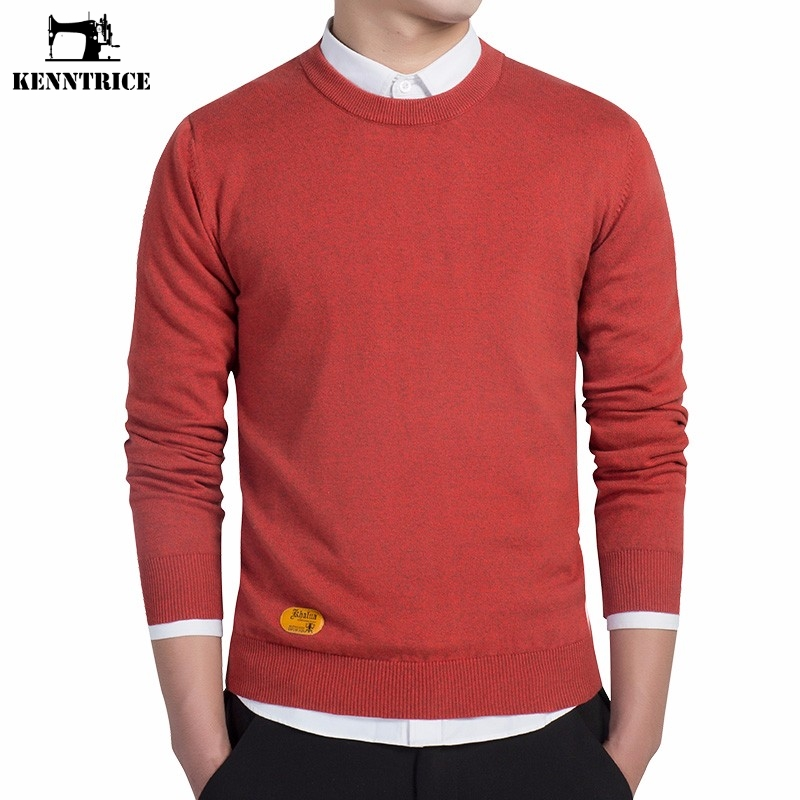 Kenntrice Casual Business Style Sweaters Men Basic Sweater