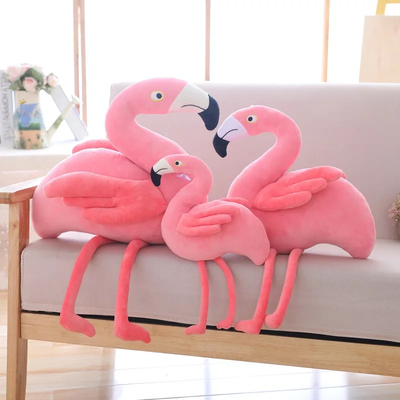 Flamingo Doll Plush Toys Pink Love Bird Stuffed Toys Children 39 s Gifts Cotton Material Photo Props Bright Colors Great Elasticity in Stuffed amp Plush Animals from Toys amp Hobbies