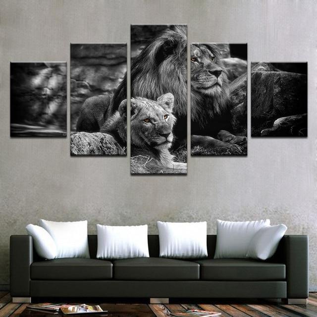 Modular Canvas Wall Art Printed Poster Home Decor Frame 5 Pieces ...