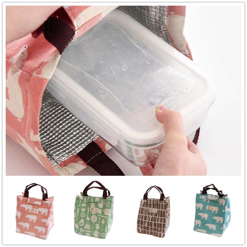 Thermal Insulated font b Lunch b font Box Tote Cooler font b Bag b font Bento