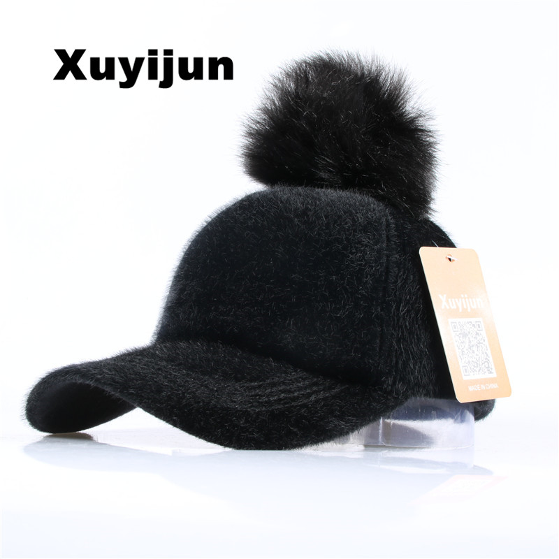 XUYIJUN 2017 Unisex Solid Winter wool baseball cap Safety Pin Curved Hats Baseball Cap Men Women Suede Snapback Cap Gorras