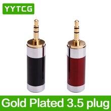 цена на YYTCG HiFi 3.5mm 3 Pole Repair Headphone Jack Audio Connector Plug 3.5mm Plugs Headphone Cable Solder 1Pair