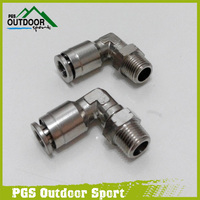 A Lot of 2 Paintball 90 Degree Swivel Elbow Macro Micro Hose Line Fitting
