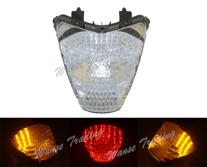 E-Marked Taillight Tail Brake Turn Signals Integrated Led Light Lamp Clear For 2011 2012 2013 HONDA Fireblade CBR 250R CBR250R aftermarket free shipping motorcycle parts led tail brake light turn signals for 2008 2012 suzuki hayabusa gsx1300r clear