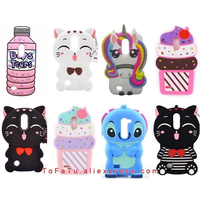 meet 6da0a 57059 US $3.22 10% OFF For LG K10 2017 Case Luxury Cute Silicone Stitch Lucky Cat  Unicorn Sulley Rabbit Phone Cover Cases For LG K20 Plus K20 V Case-in ...