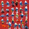 Brinquedos frete Grátis Para Crianças de boa qualidade Lindo O Smurfstoys pai Azul Azul elves smurfette Action figure toy boneca estátua