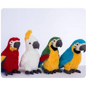 Cute Parrot Plush Doll Toy Car