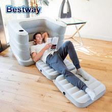Luxury flocking inflatable sofa Home outdoor sofa bed Portable sofa