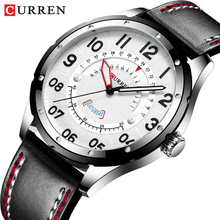 CURREN Mens Watches Top Luxury Brand Men Leather Watches Cas