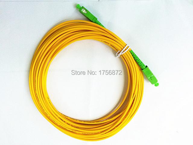 Frete Grátis SM SX PVC 3mm 10 Metros SC/APC Cabo de Jumper de Fibra Óptica SC/APC-SC/APC Fibra Óptica Patch Cord