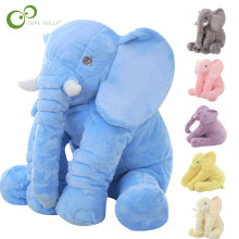 40cm Height Large Plush Elephant Doll Toy Kids Sleeping Back Cushion Cute Stuffed Elephant Baby Accompany Doll Xmas Gift WYQ(China)