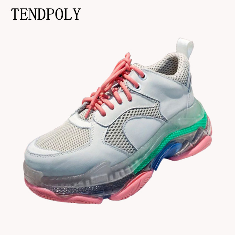 Brand luxury shoes Casual women sneakers spring summer the new hot sale Thick sole Ladies Mesh