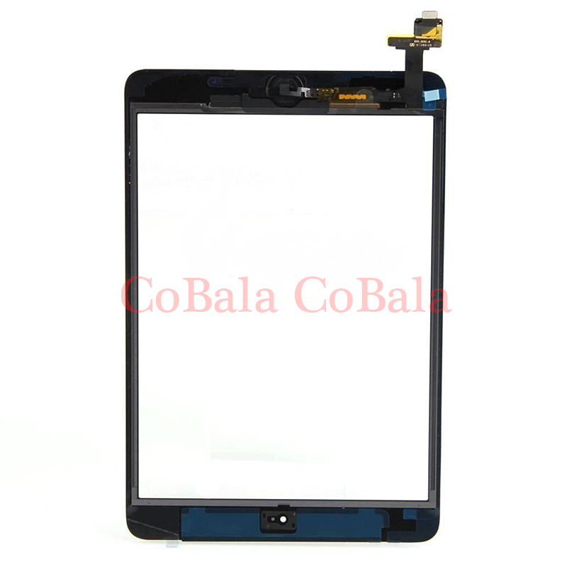 1Pcs (Tested) For iPad Mini 1 2 Mini1 Mini2 7.9 LCD Outer Touch Screen Digitizer With IC Chip Connector Home Button bqt replacement glsss screen for ipad mini1 mini2 touch screen digitizer without ic with tape parts 100