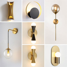 Modern Wall Lamp Loft Style Reading Light for Headboard Gold Wall Light Swing Arm Wall Lamp Led Modern Indoor Living Room Decor loft industiral retro wall lamp glass flower cover iron wall light hotel bar indoor two wooden wall mounted swing arm lights