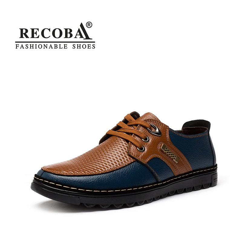 Mens casual shoes luxury brand genuine leather solid lace up flats british style oxfords mocassin shoes mens zapatos hombre mens women golf shoes genuine leather shoes british style waterproof breathable free shipping