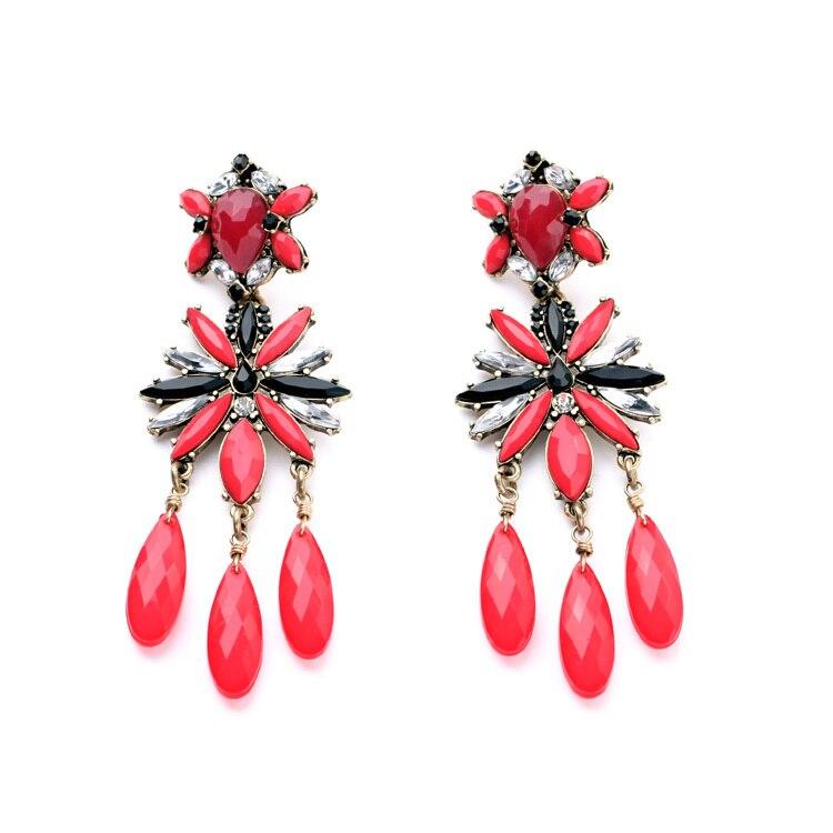 Euro-Pop Major Suit Jewelry Wholesale Dazzle Colour Club Joker Red Women's Earrings