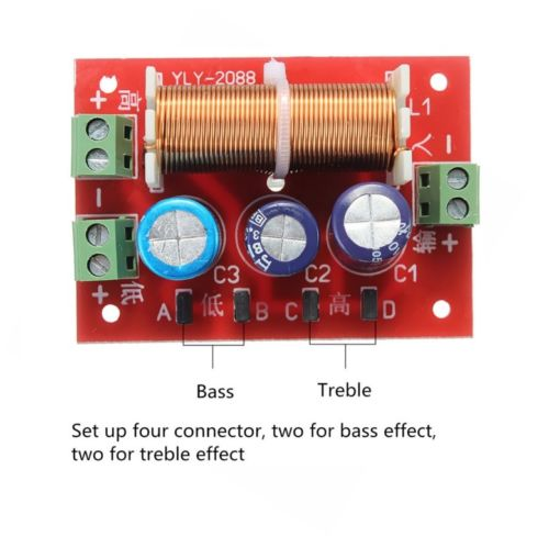 Ajustable Treble/Bass Frequency Divider 2 Way Speaker Audio Crossover Filters CK ajustable treble bass frequency divider 2 way speaker audio crossover filters ck