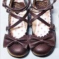 Супер Мило OL женщин синглов обувь на плоской подошве Мори Девушка Японский лолита лук кукла обувь Японский мило лук сладкий студенты принцесса обувь
