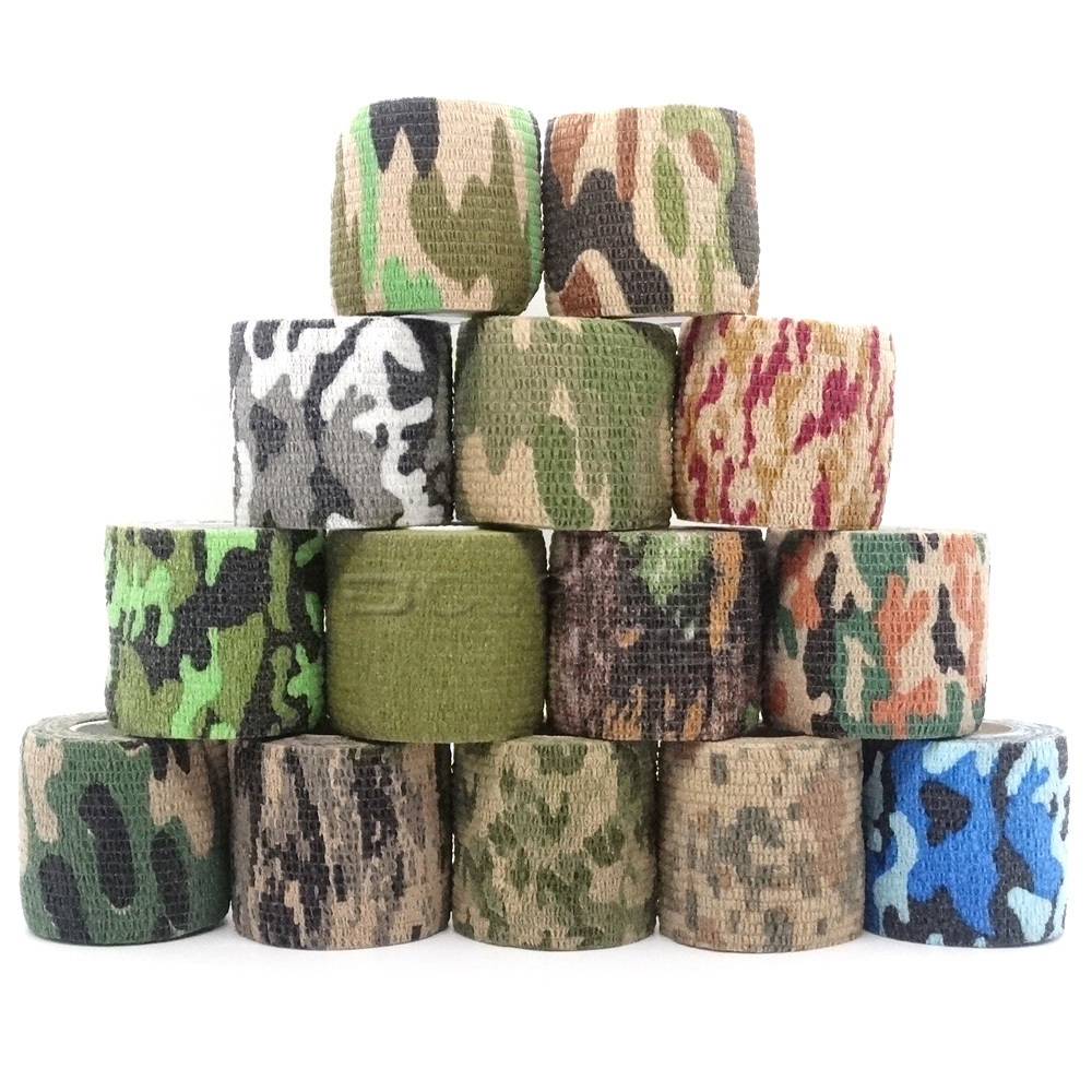 1 Roll U Pick 4.5m*5cm Waterproof Outdoor Camo Hiking Camping Hunting Camouflage Stealth Tape Wraps(China)