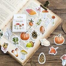 46 шт. Kawaii лес фрукты орехи гриб стикер для канцелярских товаров Скрапбукинг дневник DIY клейкая декоративная наклейка для мальчиков и девочек