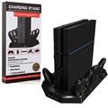 PS4 Консоль Вертикальная Стойка Dual Cooler Вентиляторы + Четыре Зарядное Устройство Портов Зарядная Станция Для Контроллеров PS4-Лучшее Охлаждение и зарядки