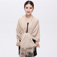 Winter Classic Fashion Charm Scarf Women Cashmere Fabric Warm Soft Solid Pashmina Scarf Big 70 200CM