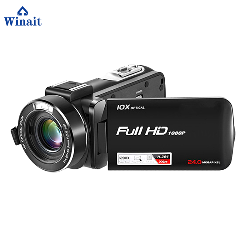 Winait popular HDV Z82 digital video camera with High end CMOS sensor 10X optical zoom