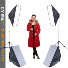 Photograpy 4 Single light softbox Continuous Lighting Kit photographic lighting photography light softbox studio set lamp CD50