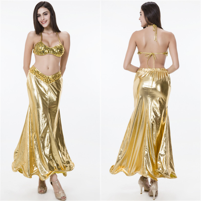 Sequins + Imitation Leather Women Girl Sexy Mermaid Costume Suit Clothes Game Uniform Mermaid Dress Up M XL