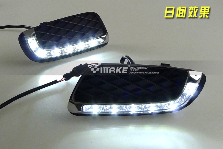 Free Shipping, LED DRL for Mercedes Benz Smart Fortwo Specific Daytime Running Light Fog Lamp DRL 2008-2012 2x led daytime running light with fog lamp cover for mercedes benz ml350 w164 2006 2007 2008 2009 automotive accessories