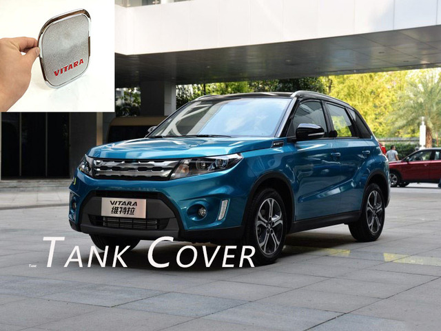 Abaiwai ABS Chrome For Suzuki Vitara Escudo 2015 2016 Car Exterior Tank Oil Gas Fuel Cover Decoration Trim Car Styling Accessory