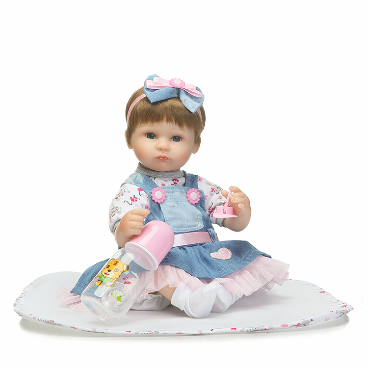 40cm New Arricval Silicone Reborn Babies Dolls Toys Lovely Newborn Girl Baby Doll For Kids Girl Brinquedos Child Birthday Gift 2015 new 40cm full mixed silicone reborn baby dolls the best gift for girl baby kid girls brinquedos newborn babies cinderella