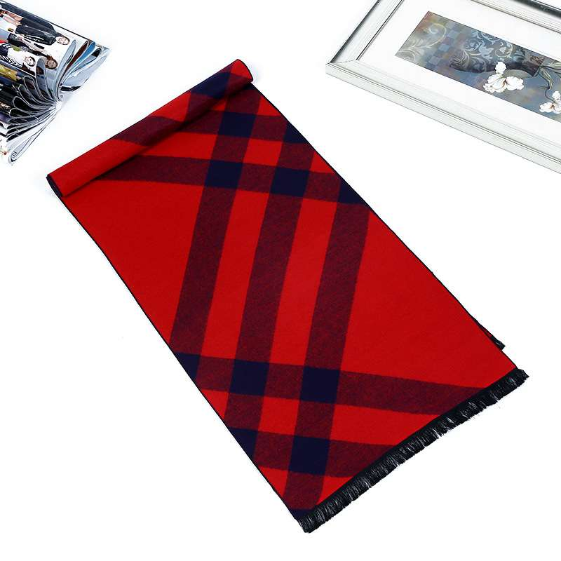 Winter Scarf Luxury Brand Men Causal font b Tartan b font Scarves Design Cashmere Scarf Foulard