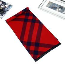 Winter Scarf Luxury Brand Men Causal Tartan Scarves Design Cashmere Scarf Foulard Homme YJWD726