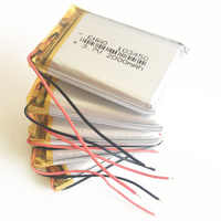 5 x pcs 3.7V 2000mAh 103450 Lithium Polymer Li-Po Rechargeable Battery For GPS PSP DVD mobile Cell copter tablet PC power bank