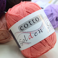 250g Lot 5 Balls Pure Baby 100 Cotton Yarn Worsted Eco Friendly Dyed Crochet Yarn For