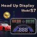 """Nuevo 5.8 """"pantalla Car Styling S7 GPS HUD Head Up Display OBD2 Interfaz LED Vehículo Auto de Seguridad de Conducción Alerta de Consumo de Combustible"""