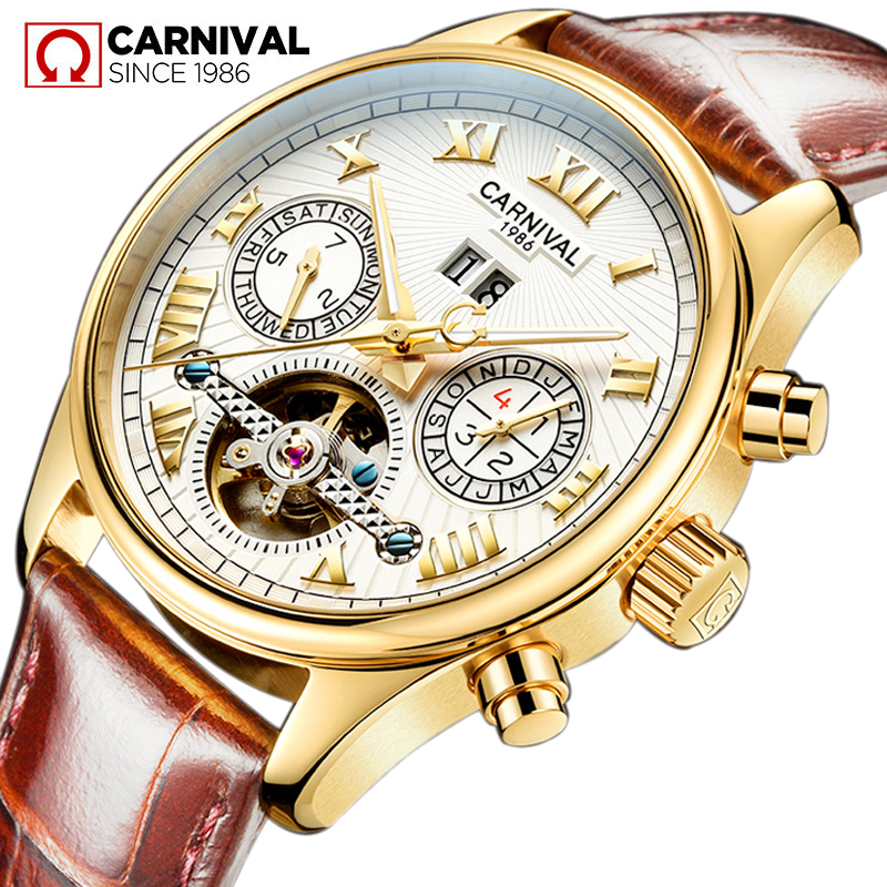 Famous Brand Watch 2018 New Hot Luxury Men Automatic Mechanical Watches Gold Case White Dial Genuine Leather Strap Men Watch forsining famous brand watch 2018 new luxury men automatic watches gold case dial genuine leather strap fashion tourbillon watch
