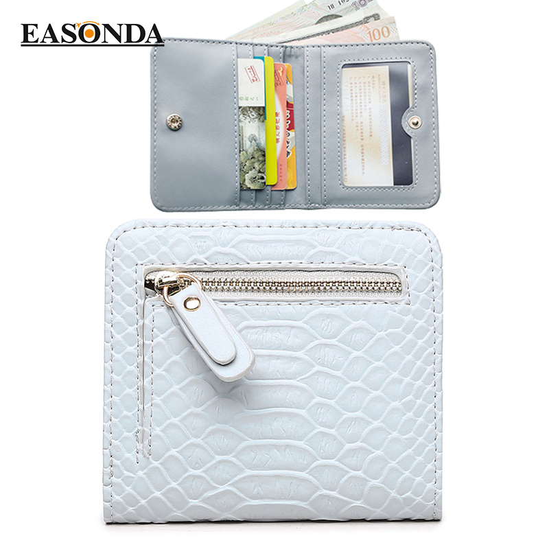 Fashion Women Wallet  Small Pu Leather Wallets Card For Girls Serpentine Short Wallets Thin Purse Credit Cards With Coin Bag new 2017 pink hollow leaf short wallet women wallets small purse for girls credit id card holder money coin bag christmas gifts