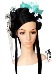 Tale of Seven Fairy Ladies Hair Wig with Hair Accessory 8 designs stage performance Chinese princess empress hair wigs