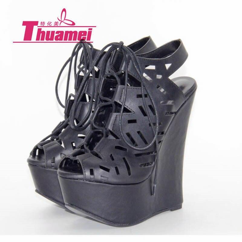 Noir 15 Printemps Léopard Sexy Cm Pompes Gladiateur Haute Talons Automne forme FemmeY0738017f Femmes Été Plate Chaussures Wedge De 6vb7fygY