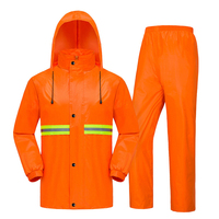 Sanitation Raincoat Thick Reflective Polyester Taffeta Rain Coat Men and Women Split Raincoat Rain Pants Set Fishing Rainwear
