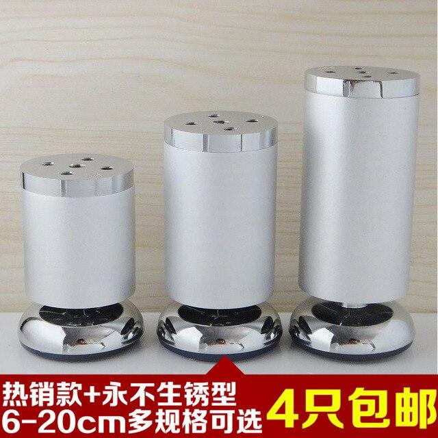 Adjustable Bathroom Cabinet Support Aluminum Furniture Feet Cabinet Foot  Sofa Table Legs Round Metal Foot Of