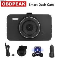 Smart Dash Camera 170 Degree 3.0 1080P 30fps dash cam Rearview Mirror Digital Video dashcam Recorder Dual Lens Car DVR