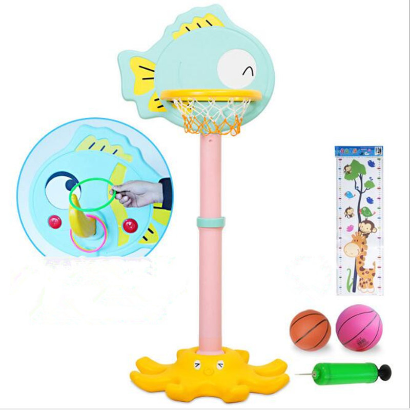 Adjustable Basketball Stands Sport Toys for Kids Goal Hoop Toy Set Boys Training Practice Accessories