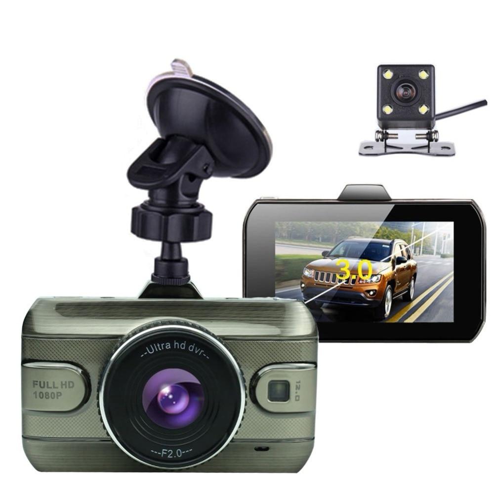 3 Inch Dual Lens Car Dvrs Full HD 1080P Car Dvr Video Recorder Car Camera Dash Cam With Rear View Backup Camera