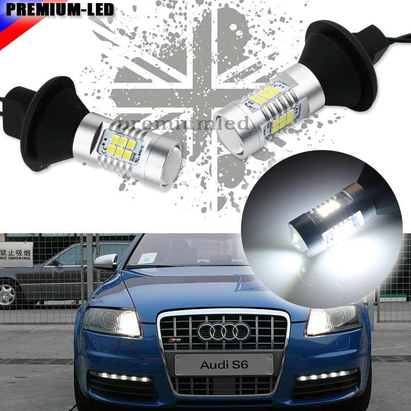 Keine Zusätzlichen Widerstand Erforderlich Xenon Weiß 1156 7506 P21W Led-lampen Für Audi B7 A3 A4 A6 A8 Q7 S3 S4 S6 Tages DRL lichter