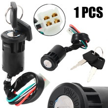 цена на Mayitr 1se Motorbike Ignition Toggle Switch Lock 4 Wires Bike ATV Quad Motor Moped Scooters With 2 Keys For 50-250cc Motorcycle