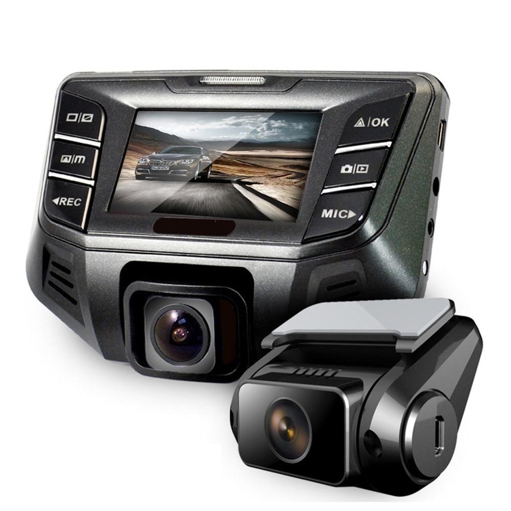 """imágenes para Lujo 2.7 """"coche Novatek 96655 Coches DVR Mini Grabadora de Vídeo Cámara Completa HD 1080 P Lente Dual Dash Cam WDR Registrador Del Coche Negro caja"""